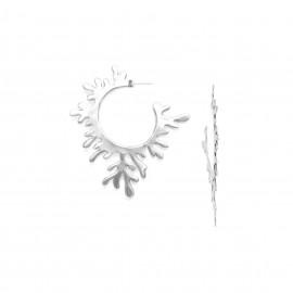 grandes boucles d'oreilles créoles Seaweeds - Ori Tao