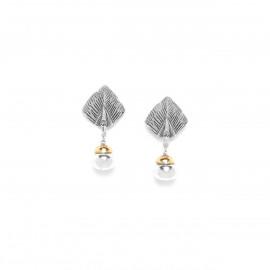 drop dangle earrings Silver feather - Ori Tao
