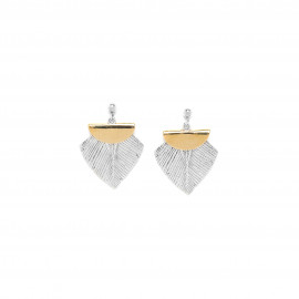 boucles d'oreilles poussoir top bille métal Silver feather - Ori Tao