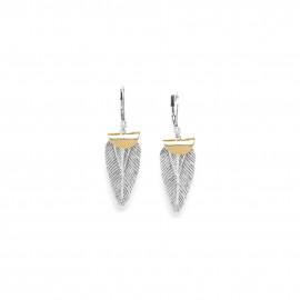 boucles d'oreilles plumes sur crochets Silver feather - Ori Tao