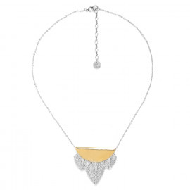 collier 3 plumes Silver feather - Ori Tao