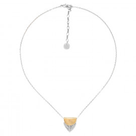 small feather pendant necklace Silver feather - Ori Tao
