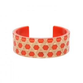 bracelet rigide mandarine Cannage - Nature Bijoux