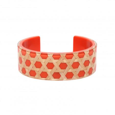 bracelet rigide mandarine Cannage