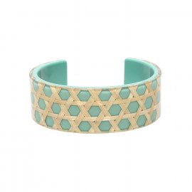 turquoise cuff bracelet Cannage - Nature Bijoux