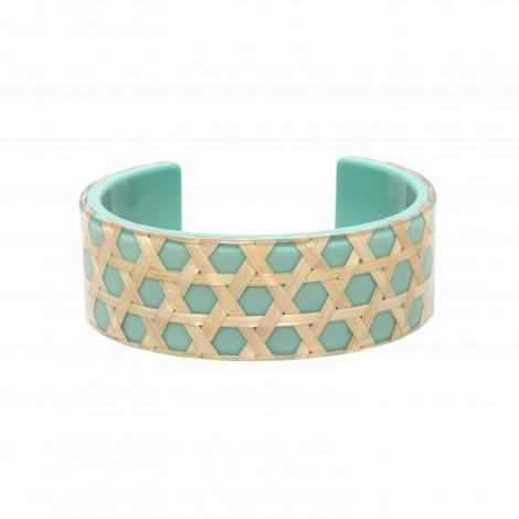bracelet rigide turquoise Cannage