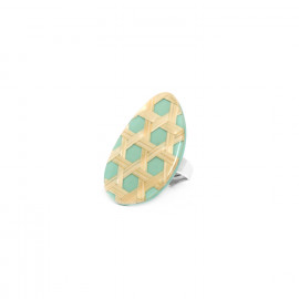 turquoise ring Cannage - Nature Bijoux