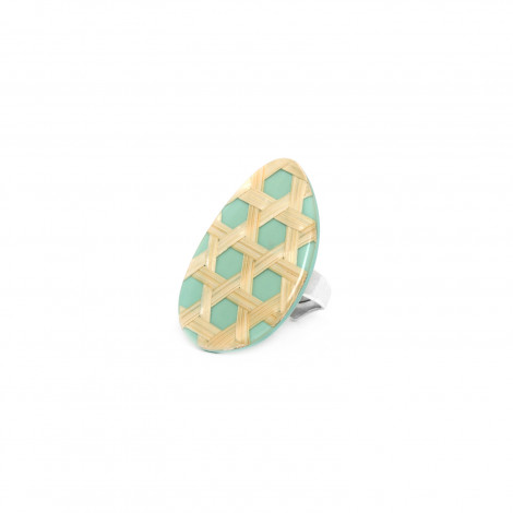 bague turquoise Cannage