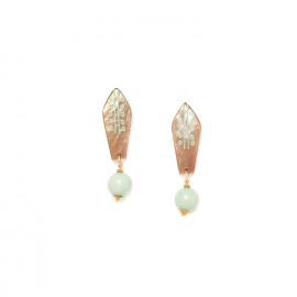 boucles d'oreilles perle amazonite Celadon - Nature Bijoux