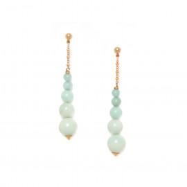 boucles d'oreilles 5 perles amazonite Celadon - Nature Bijoux