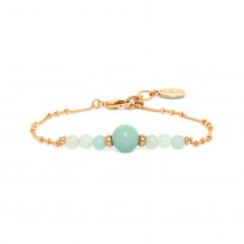 bracelet amazonite chaine or Celadon - Nature Bijoux