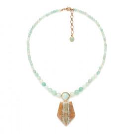collier amazonite avec pendentif Celadon - Nature Bijoux