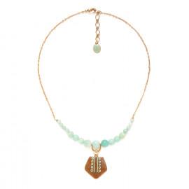 collier amazonite petit pendentif Celadon - Nature Bijoux