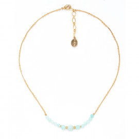 amazonite necklace with gold chain Celadon - Nature Bijoux