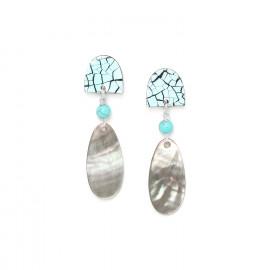 blacklip drop earrings Curacao - Nature Bijoux