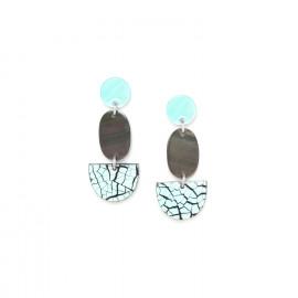 boucles d'oreilles trois éléments Curacao - Nature Bijoux