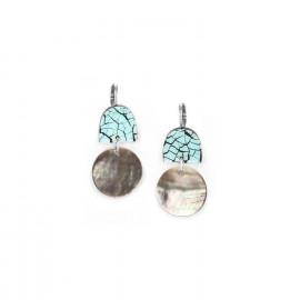 boucles d'oreilles deux éléments Curacao - Nature Bijoux