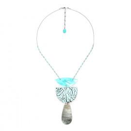 big blacklip drop necklace Curacao - Nature Bijoux