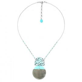 blacklip half disc necklace Curacao - Nature Bijoux