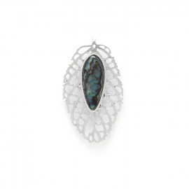 leaf brooch /silver Fittonia - Nature Bijoux