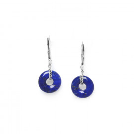 boucles d'oreilles anneau de lapis lazuli Fittonia - Nature Bijoux