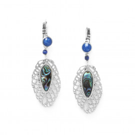large leaf earrings /silver Fittonia - Nature Bijoux