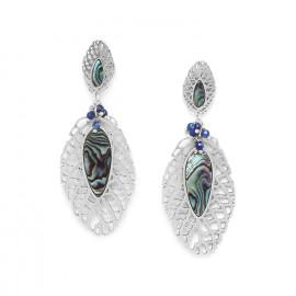 boucles d'oreilles feuille perlée /silver Fittonia - Nature Bijoux