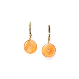 boucles d'oreilles anneau d'agate Fittonia - Nature Bijoux