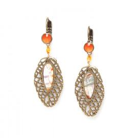 big leaf earrings /bronze Fittonia - Nature Bijoux