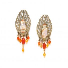 multi dangle leaf earrings /bronze Fittonia - Nature Bijoux