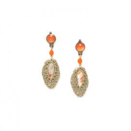 boucles d'oreilles petite feuille /bronze Fittonia - Nature Bijoux