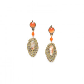 small leaf earrings /bronze Fittonia - Nature Bijoux