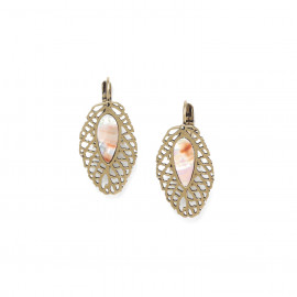 french hook earrings /bronze Fittonia - Nature Bijoux