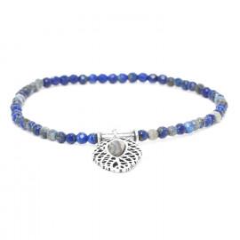 lapis lazuli stretch bracelet Fittonia - Nature Bijoux
