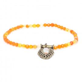 bracelet extensible agate Fittonia - Nature Bijoux