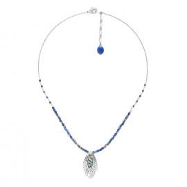 collier lapis lazuli petite feuille Fittonia - Nature Bijoux