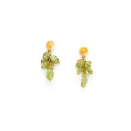 boucles d'oreilles grappe de péridot Ginkgo - Nature Bijoux