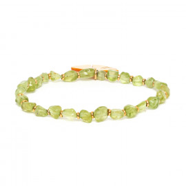 bracelet extensible péridot Ginkgo - Nature Bijoux