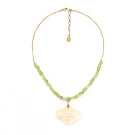 big leaf necklace Ginkgo - Nature Bijoux