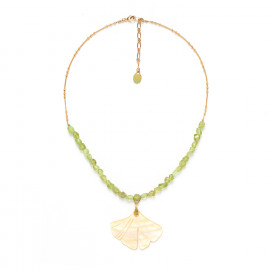 collier grande feuille Ginkgo - Nature Bijoux