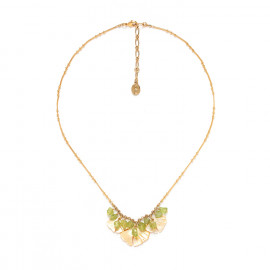 three leaves necklace with peridot Ginkgo - Nature Bijoux