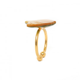Mother of pearl small ring Ginkgo - Nature Bijoux