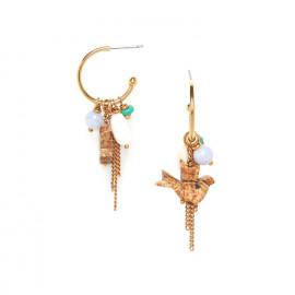 boucles d'oreilles créoles multipampilles Kali - Nature Bijoux