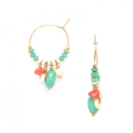 creoles earring heishi Kali - Nature Bijoux