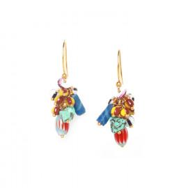 boucles d'oreilles grappes ethno Kali - Nature Bijoux