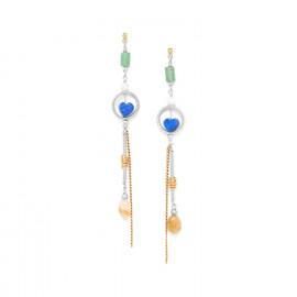 boucles d'oreilles coeur en lapis lazuli Kali - Nature Bijoux