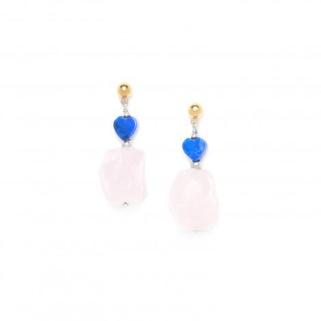 rose quartz earring Kali