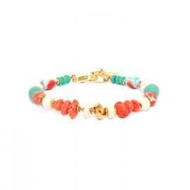 bracelet orange turquoise & blanc Kali - Nature Bijoux