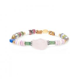 bracelet extensible quartz rose Kali - Nature Bijoux