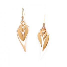 caramel conus earrings Lagoon - Nature Bijoux